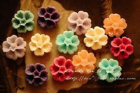 Wholesale Resin Flower Pendant mm Europe Flat Back Resin Cabochon Flower Vintage Plastic