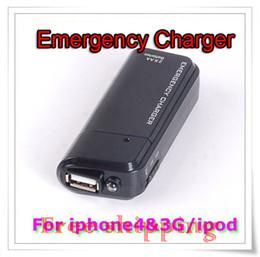 Cargador libre del USB de la emergencia de la batería del AA del envío con la linterna para el negro del iPhone 4G 3G 3GS iPod desde 3g usb libre proveedores