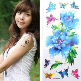 Wholesale Fashion Temporary Tatoos Designs Temporary Body Tatoo Stickers Butterfly Flowers Mixed Order
