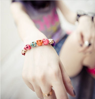 Wholesale Fashion Skull Bracelet Colorful Skull Brcelet Jewelry