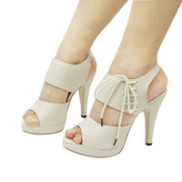 Wholesale Womens Strappy Sandals Peep Toe High Heels New Shoes Size us4
