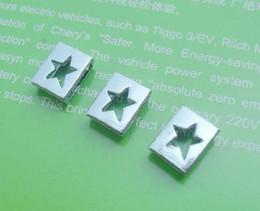 Wholesale - 50pcs 8mm Star Slide Charms Fit Pet Collar Necklace Bracelet Cell Phone Charms