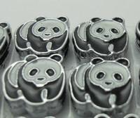 Wholesale mm Panda Slide Charms Fit Pet Collar Necklace Bracelet Cell Phone Charms