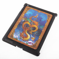 3D Change- enable Snake Image Black Cover Case for ipad2