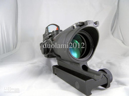 Wholesale Newest x32C Zoom Trijicon ACOG Rifle Scope Aiming Sight Telescope with Light Control Gun Mount