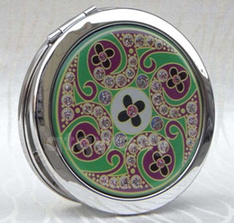 Wholesale DN076 cosmetic pocket compact stainless makeup mirror gift