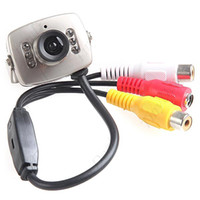 Wholesale 6 IR LED Waterproof CCD Color Video Security Camera Monitor w Night Vision amp Audio
