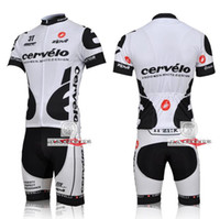 Wholesale 2012 new style Cervelo T white black Cycling wear Short Sleeve Jersey Bib shorts set SZ S XXXL