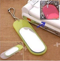Wholesale DN078 New exotic product test UV color mirror keychain cell phone chain mobile
