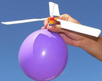 Wholesale Balloon airplane Balloon helicopter Balloon propeller Novelty toys g