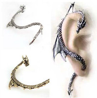 Wholesale New Alchemy Gothic Dragons Lure Cuff Pewter Earring dragon form Earring