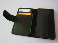 Wholesale Leather wallet case belt flip cover for Samsung Galaxy S2 I9100 black