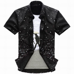 Wholesale Fashion Men Boys Casual Leisure Shirts Tops sark singlet black shirt dress shirts shirt dresses