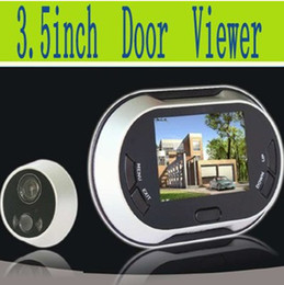 Freeshipping! 3.5 inch Display Digital Peephole Viewer  Video Door Bell,0.3MP Night Vision Camera