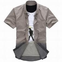 Wholesale Fashion Men Causual Leisure Shirts Tops Shirt dress shirts shirt Clothing Boys dress shirts