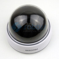 Wholesale 2pcs Fake Dummy Security CCTV Dome CCTV Camera with red LED light