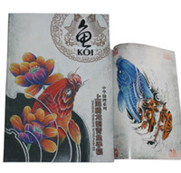Wholesale tattoo magazine book popular design high quality Chinese Carp