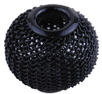 Wholesale Black mm Mesh Beads Metal Round Mesh Spacer Europe Beads Fit DIY Hoop Earrings Bracelets