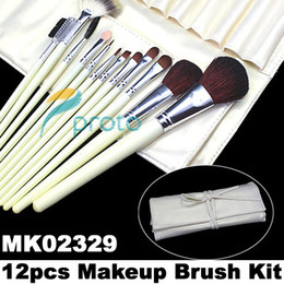 Wholesale Freeshipping Professional makeup Brush Set with Rolled up Yellow Case Dropshipping Retail SKU M0091
