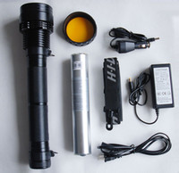 Wholesale 85W HID flash torch light lumen Search light hunting light HID flashlight torch xenon torch
