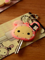 key cover key caps - cute animal Silicon Key Caps Covers Keys Easy Colorful set protector Identifier Keychain Case Shell