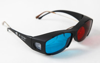 Wholesale Black Frame Red Blue D Glasses For Dimensional Anaglyph Movie DVD Game