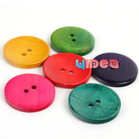 Wholesale 800 Hot Sale Mixed Colorful Wooden Buttons Fit Clothes Accessories Have in Stock