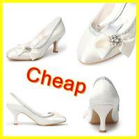 Wholesale Custom Waterproof Wedding Prom Shoes Satin Bow Crystal CM High heel Dancing Bridal Shoes