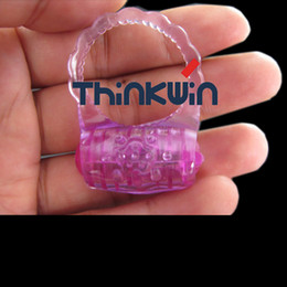Wholesale Long lasting Vibrating cock ring sex rings sex products batteries can be replaceable