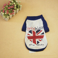 Pet Dog Clothing with British Rock Style Lovely Pet Dog T- Sh...
