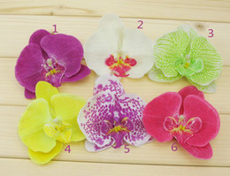 Orchid Artificial Flower Hair clips Bridal Hawaii Party Girl fascinator hair accessories wholesale