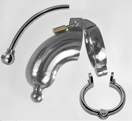 Wholesale Hand Polished Male Chastity Device Stainless Steel Chastity Belt Dildo Bondage Cock Chastity Penis Cage