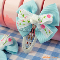 Wholesale The most popular princess headdress hairpin baby bow girl hair accessories hair