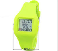 Wholesale Hot sale Candy Color Sport Watch Digital Watch Silicon Watch Kids Children Watch LCD watch