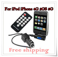 Wholesale FM Transmitter Remote Car Charger Adapter For iPod iPhone G GS G New