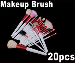 Wholesale 20PCS Pink Professional Makeup Brush Set Cosmetic Brush Pink Pouch Bag Retail H4451
