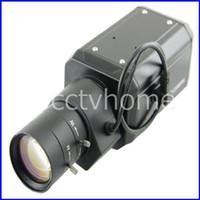 600TVL Indoor CCD Mini High Resolution Sony 600TVL Varifocal Auto-IRIS 6-60mm OSD BOX camera D-WDR