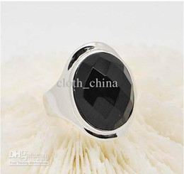 Supply 925 sterling silver ring Phantom of the Opera Ring plated white fashion black onyx jewelry