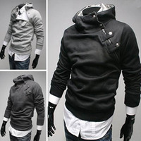Wholesale Slim Mens Pullover Hoodie Sweatshirt Fur Collar hoody