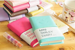 Wholesale Stationery Diary Book Notepad Notebook Memopad Agenda Travel Planner Journal cute nice mini smile