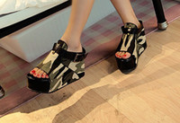 Wholesale Fashion High Heels Sandal Shoes Platform Sandal Shoes Women s Peep toe Sandal Shoes S688