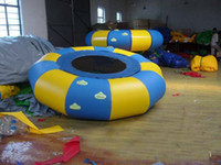 Wholesale Hot inflatable water trampoline Dia m with free Electric blower