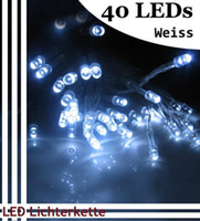 Wholesale 40 LED string MINI FAIRY LIGHTS BATTERY power OPERATED white XAA Battery