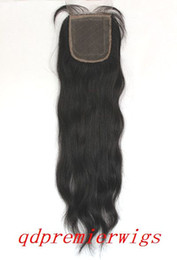 Wholesale indian remy hair swiss lace quot top closure natural straight x4 quot with silk top