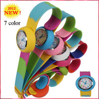 Wholesale 2012 Viyate Children Watch Round Slap Silicone Sport Watches Fashion Kids Watch C1025