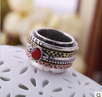 Wholesale Ring Accessories Vintage Plating Bronze Silver Ruby Fing Ring For Women A