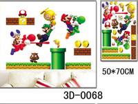 50*70cm REMOVABLE SUPER MARIO Wall Sticker Decal Kids Wall S...
