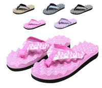 Wholesale New Style Womens Girls Mens Boys Casual Flip Flops Beach Sandals Massage Slipper