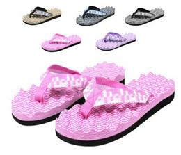 Nuevas mujeres del estilo para hombre muchachos de las niñas tirón ocasional flop sandalias de la playa del deslizador de masaje # 3332