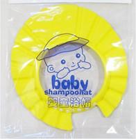 Wholesale Baby Child Kid Shampoo Bath Shower Wash Hair Shield Hat Cap Yellow Pink Blue